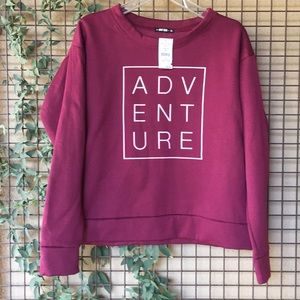 NWT!{Knit Riot} XL ADVENTURE Sweatshirt